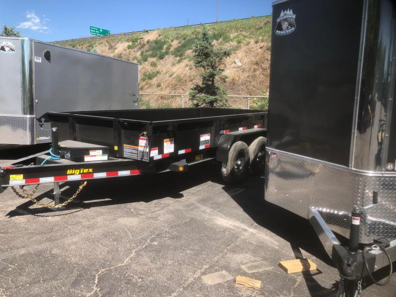 2021 Big Tex Trailers 14LD-14' w/ramps Dump Trailer-WHEAT RIDGE
