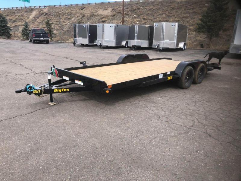 2021 Big Tex Trailers 70CH-20' w/dovetail Car / Racing Trailer-Wheat Ridge