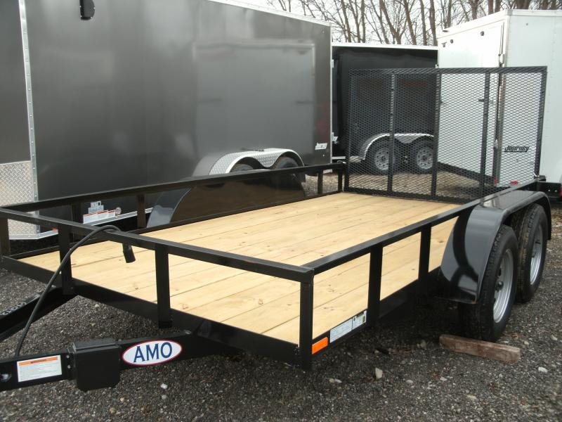 2021 American Manufacturing Operations (AMO) 6 X 14 UT TANDEM Utility Trailer