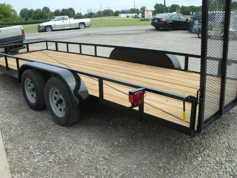 2020 American Manufacturing Operations (AMO) 6 X 18 UT TANDEM Utility Trailer