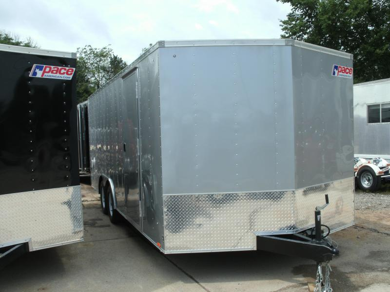 2021 Pace American Journey Flat Top 7k Gvw Cargo / Enclosed Trailer