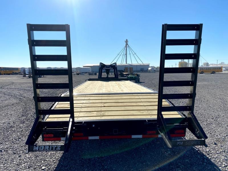 2021 Moritz 20'+5' Gn Flatbed 20k Deck Over Trailer