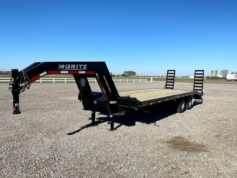 2021 Moritz 20'+5' Gn Flatbed 20k Deck Over Trailer