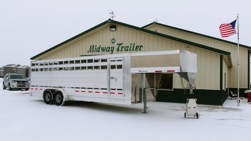 2020 Eby 7x24x6.5 Maverick Freedom Plus Livestock Trailer