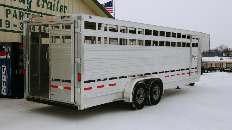 2020 Eby 7x24x6.5 Maverick Freedom Plus Livestock Trailer