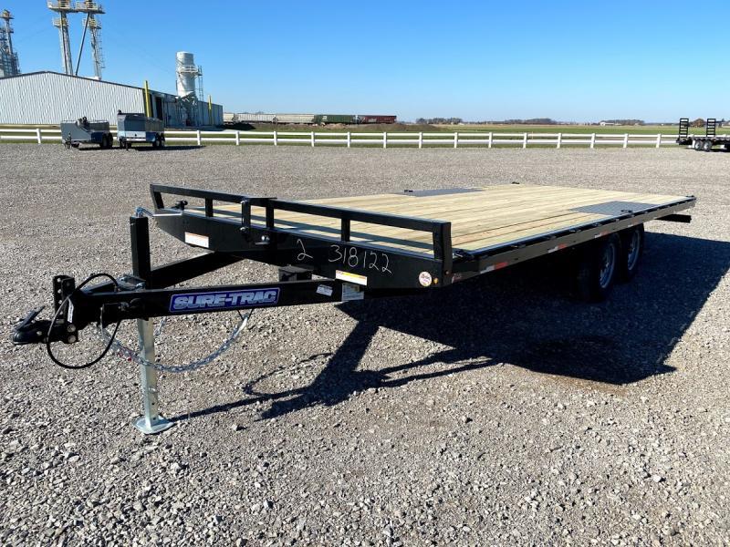 2022 Sure-trac 8.5x20 10k Lp Flat Deckover Trl. Deck Over Trailer