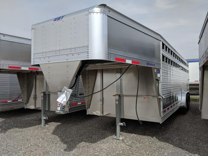 2020 Eby 7.5x22x6.5 Wrangler Livestock Trailer