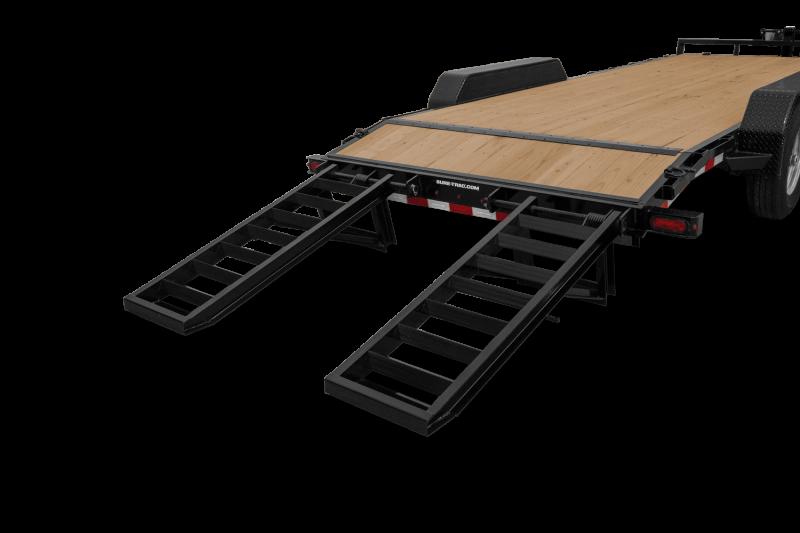2021 Sure-trac 7'x18'+2' Equip Trl 14k Equipment Trailer