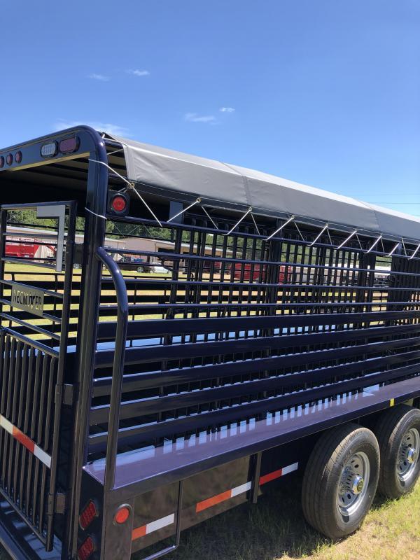 "2020 Neckover Trailers 24x6'8"" Livestock Trailer"