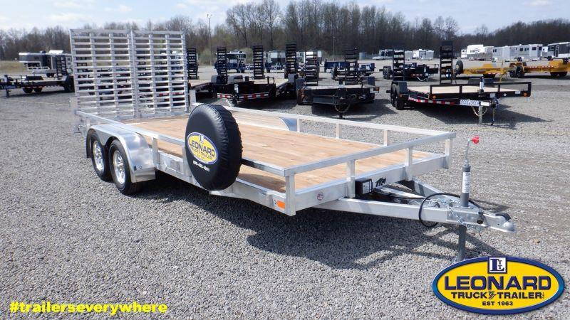 2021  18'  BLACK RHINO BUMPER PULL UTILTY TRAILER