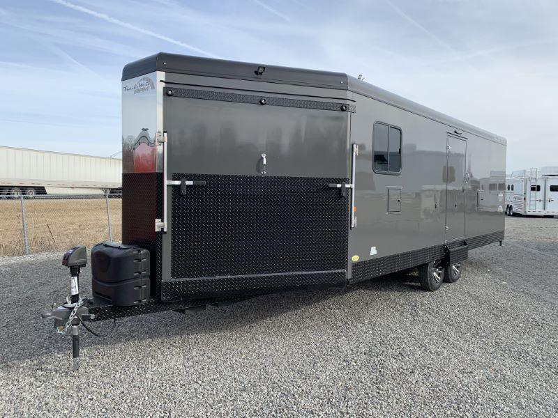 2021 8.5 X 28 TRAILS WEST BUMPER PULL SNOWMOBILE TRAILER