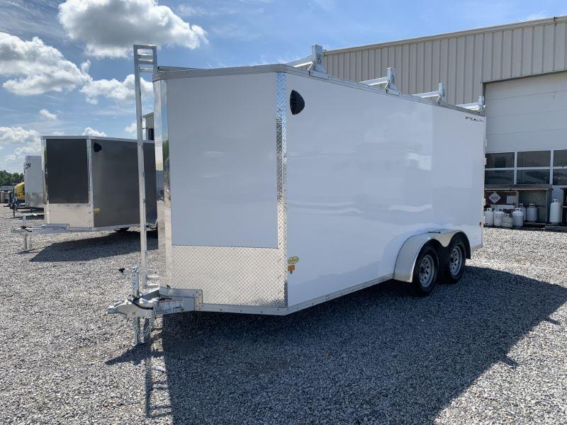 2020 7X16 ALCOM STEALTH BUMPER PULL ENCLOSED TRAILER