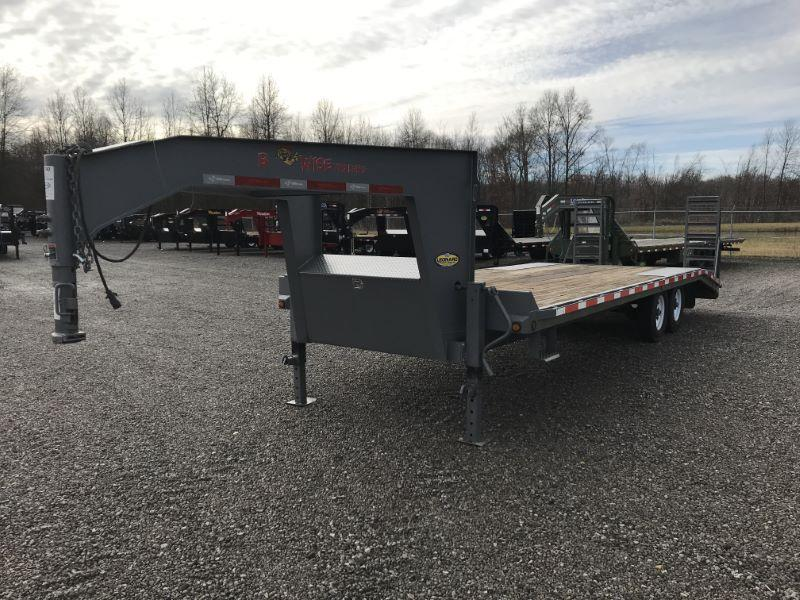 2016  24'  BWISE GOOSENECK EQUIPMENT TRAILER