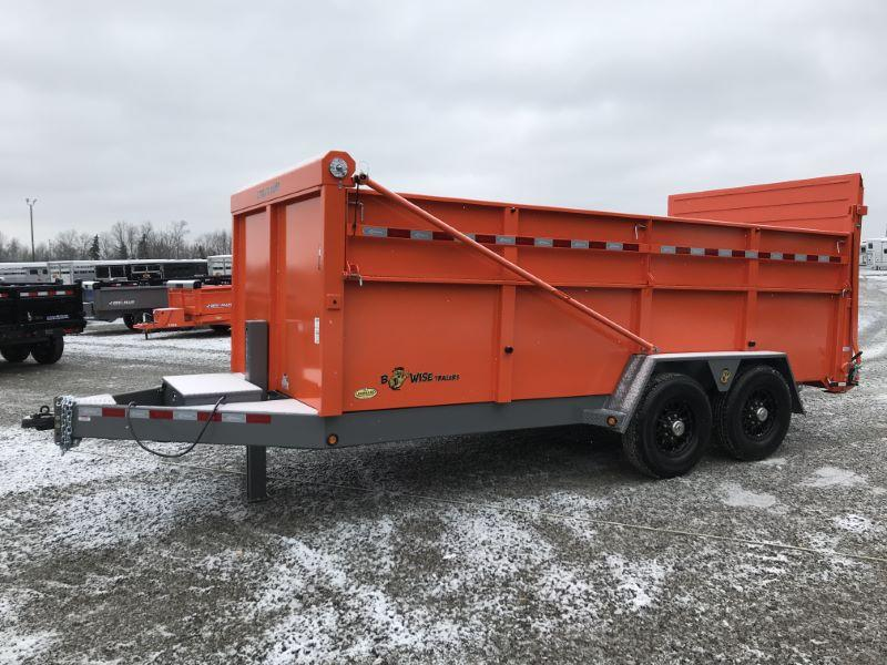 2021 16'  BWISE BUMPER PULL DUMP LOW PROFILE TRAILER