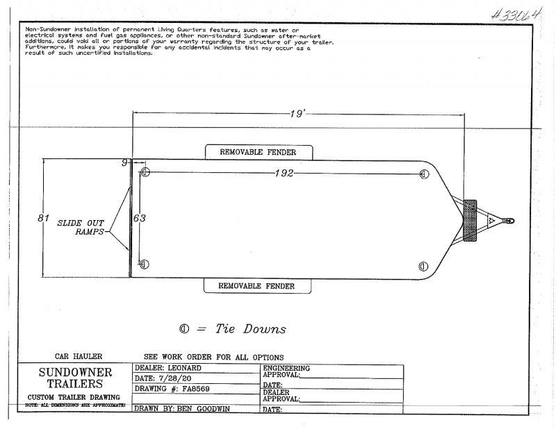 2021 19'  SUNDOWNER BUMPER PULL CAR HAULER