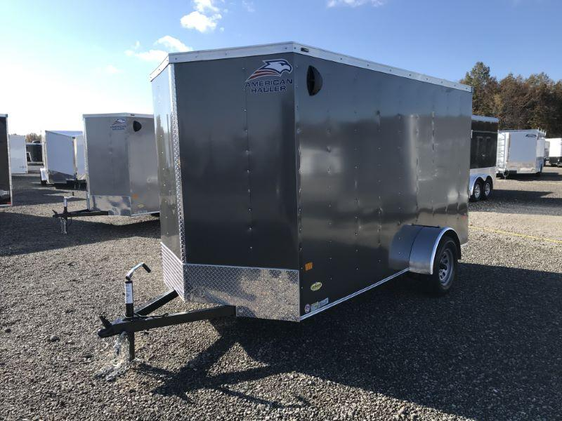 2021  6X12  AMERICAN HAULER BUMPER PULL ENCLOSED CARGO TRAILER