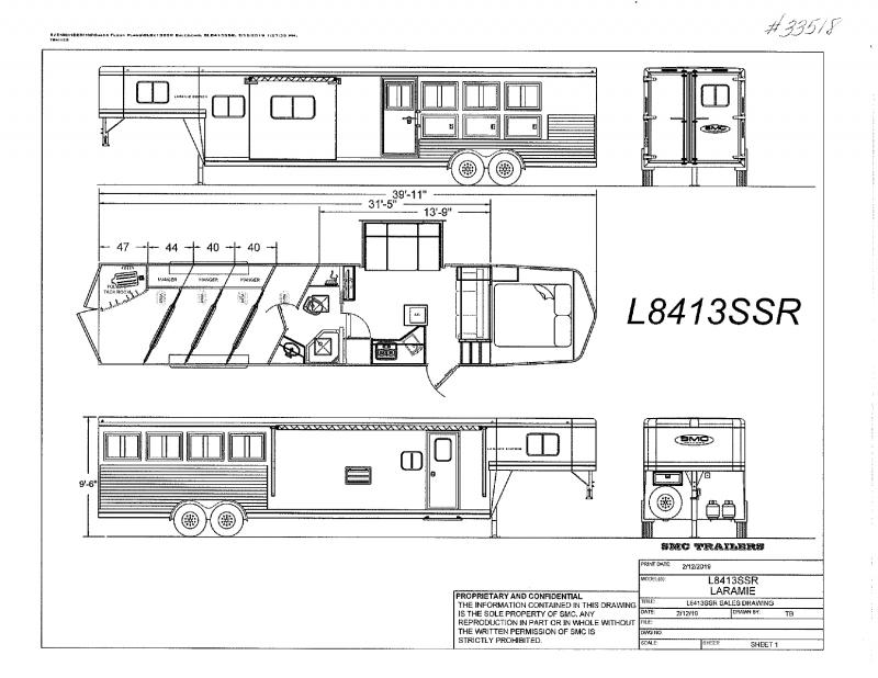 2021  4 HORSE  SMC GOOSENECK WITH LIVING QUARTERS
