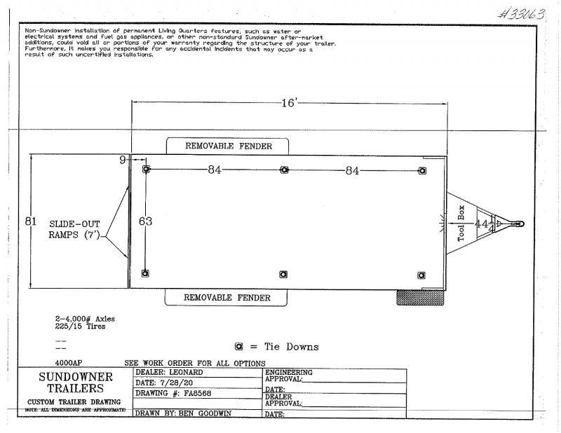 2021 16'  SUNDOWNER BUMPER PULL UTILITY TRAILER