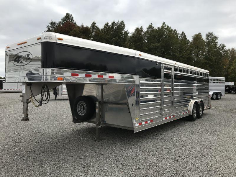 2015  24'  4 STAR GOOSENECK STOCK TRAILER