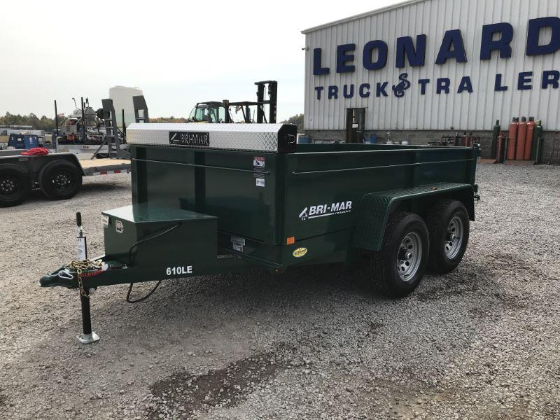 2021 10'  BRI-MAR BUMPER PULL LOW PROFILE DUMP TRAILER
