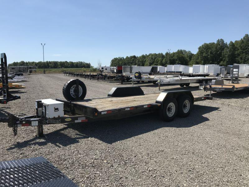 2007  20'  TITAN BUMPER PULL EQUIPMENT TRAILER