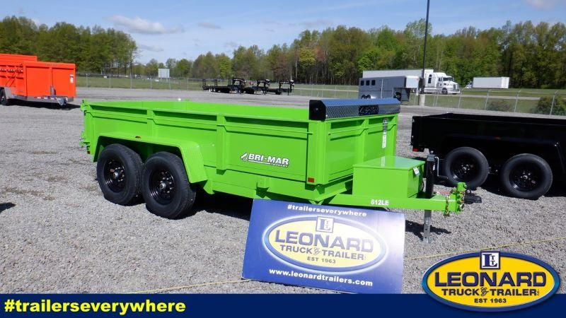 2022  6X12  BRI-MAR BUMPER PULL LOW PROFILE DUMP TRAILER