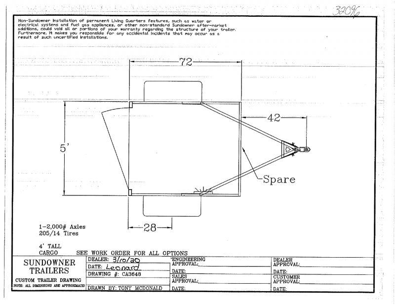 2021 5 X 6 SUNDOWNER BUMPER PULL MINI CARGO TRAILER