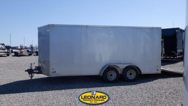 2018  7X16  COVERED WAGON BUMPER PULL ENCLOSED TRAILER