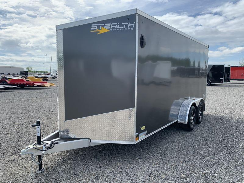 2021 7X16 STEALTH BUMPER PULL ENCLOSED CARGO TRAILER