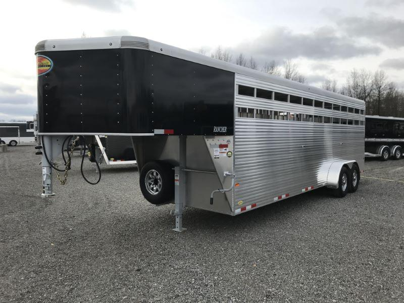 2021  24'  SUNDOWNER GOOSENECK STOCK TRAILER