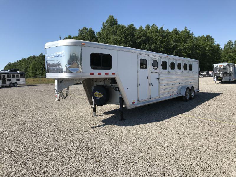2011  6 HORSE  CIMARRON GOOSENECK HORSE TRAILER