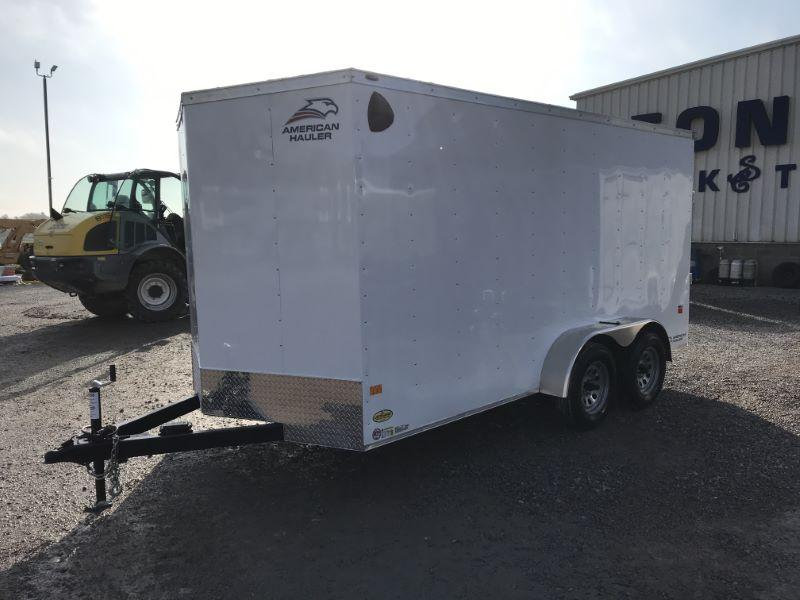 2021  7X14  AMERICAN HAULER BUMPER PULL ENCLOSED CARGO TRAILER