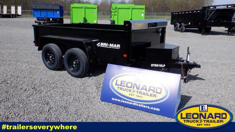 2022  10'  BRI-MAR BUMPER PULL LOW PROFILE DUMP TRAILER