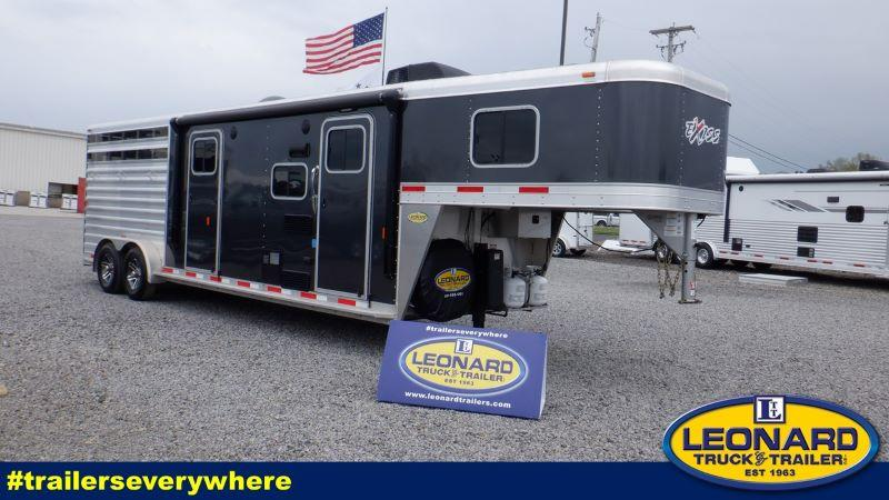 2018  3 HORSE  EXISS GOOSENECK WITH LIVING QUARTERS HORSE TRAILER