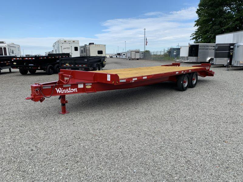 2021 25'  WINSTON BUMPER PULL EQUIPMENT TRAILER