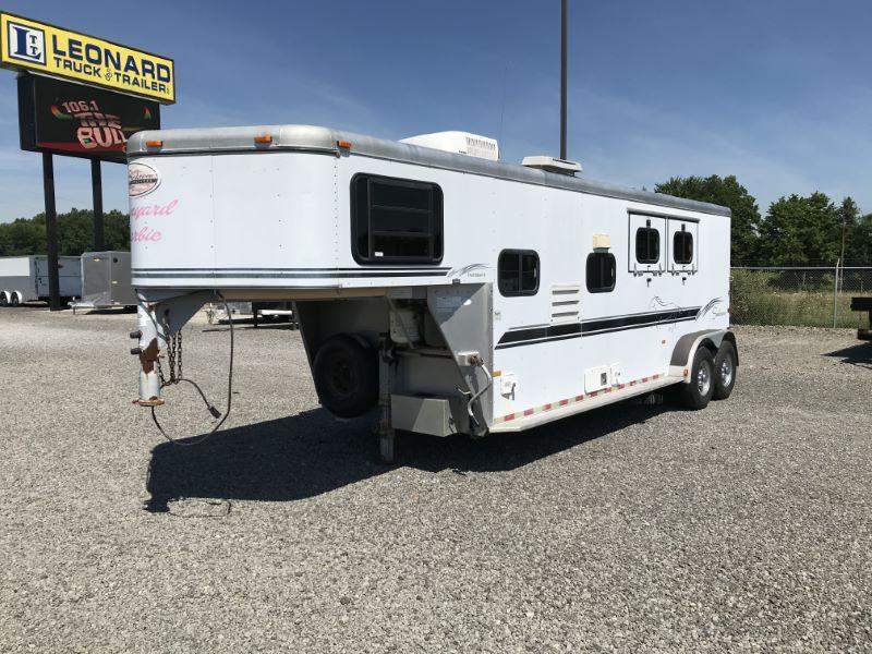 2000  2 HORSE  SUNDOWNER GOOSENECK WITH LIVING QUARTERS HORSE TRAILER
