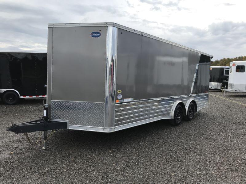 2018  20'  UNITED BUMPER PULL ENCLOSED CAR TRAILER