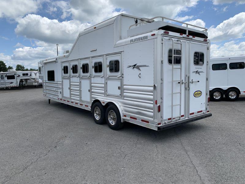 2015 5 HORSE  PLATINUM GOOSENECK W/LIVING QUARTERS