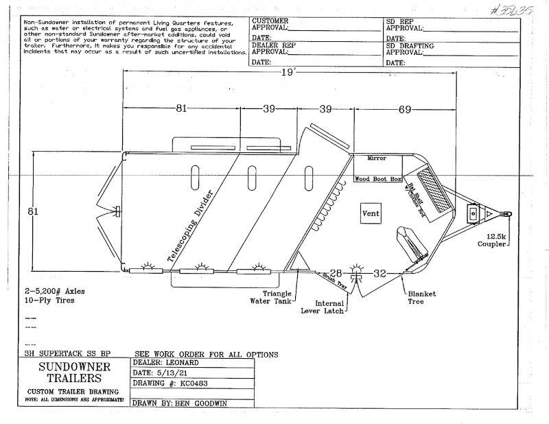 2022  3 HORSE  SUNDOWNER BUMPER PULL HORSE TRAILER