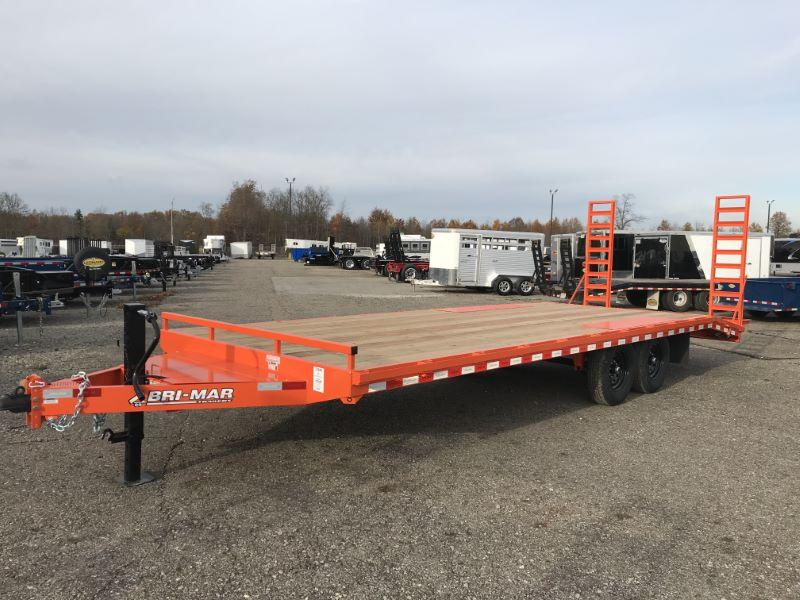 2021 24'  BRI-MAR TAG DECK OVER  EQUIPMENT TRAILER