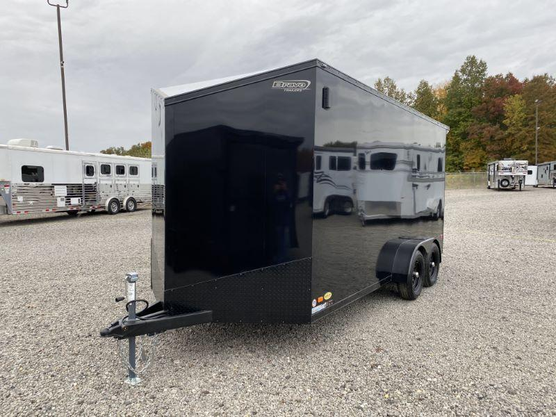 2021  7X16  BRAVO BUMPER PULL ENCLOSED TRAILER
