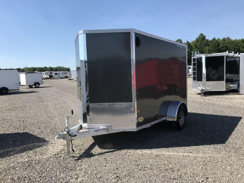 2020 6X10  ALCOM STEALTH BUMPER PULL ENCLOSED CARGO TRAILER