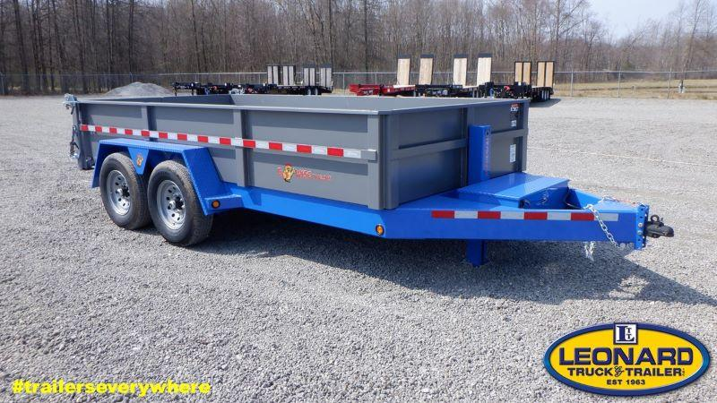 2021 14'  BWISE BUMPER PULL LOW PROFILE  DUMP TRAILER