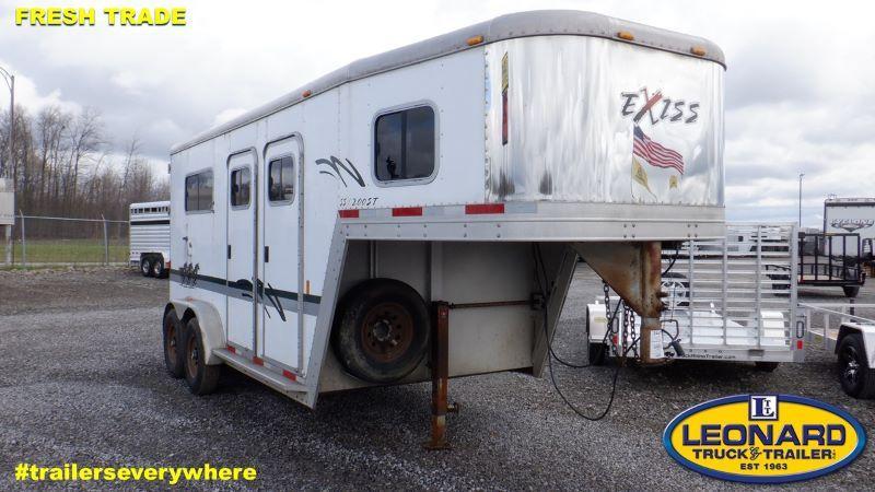 2005  2 HORSE  EXISS GOOSENECK HORSE TRAILER