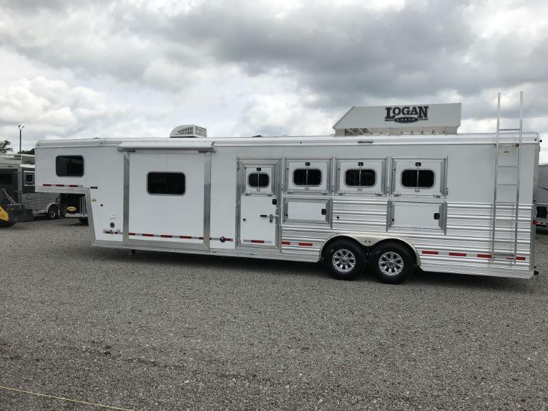 2021  4 HORSE  LOGAN COACH GOOSENECK WITH LIVING QUARTERS HORSE TRAILER