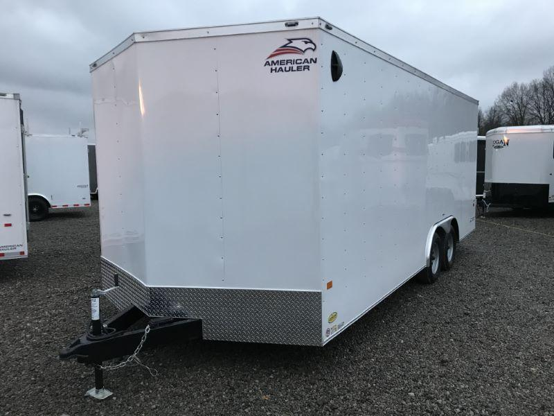 2021  8.5X20  AMERICAN HAULER BUMPER PULL ENCLOSED CAR TRAILER