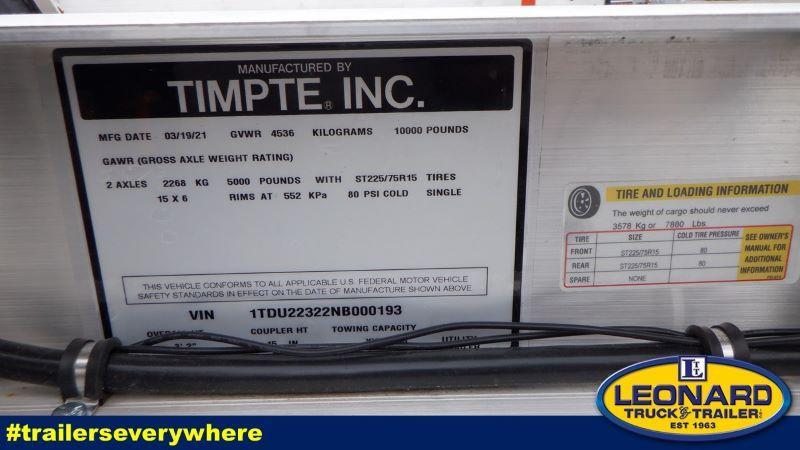 2022  18'  TIMPTE BUMPER PULL OPEN CAR TRAILER