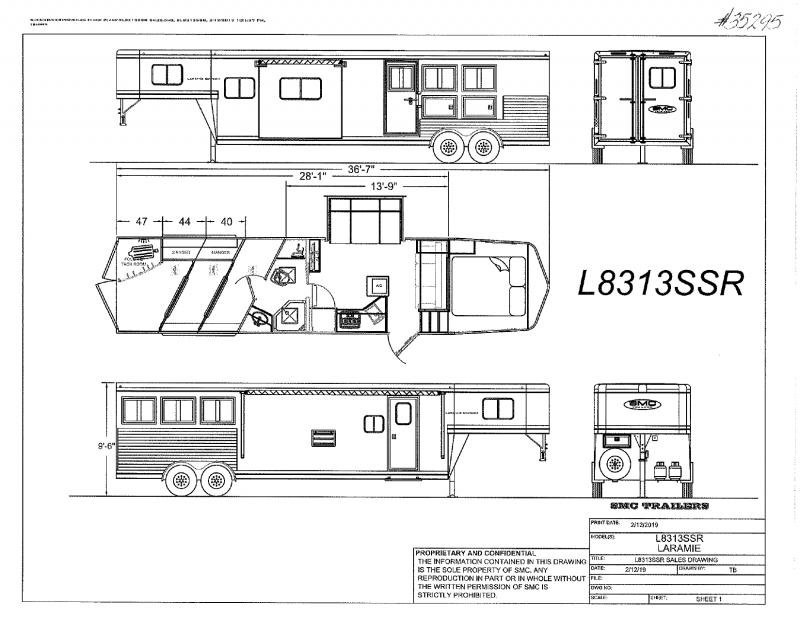 2022  3 HORSE  SMC GOOSENECK WITH LIVING QUARTERS