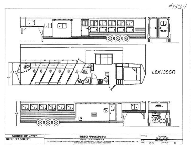 2021  6 HORSE  SMC GOOSENECK WITH LIVING QUARTERS