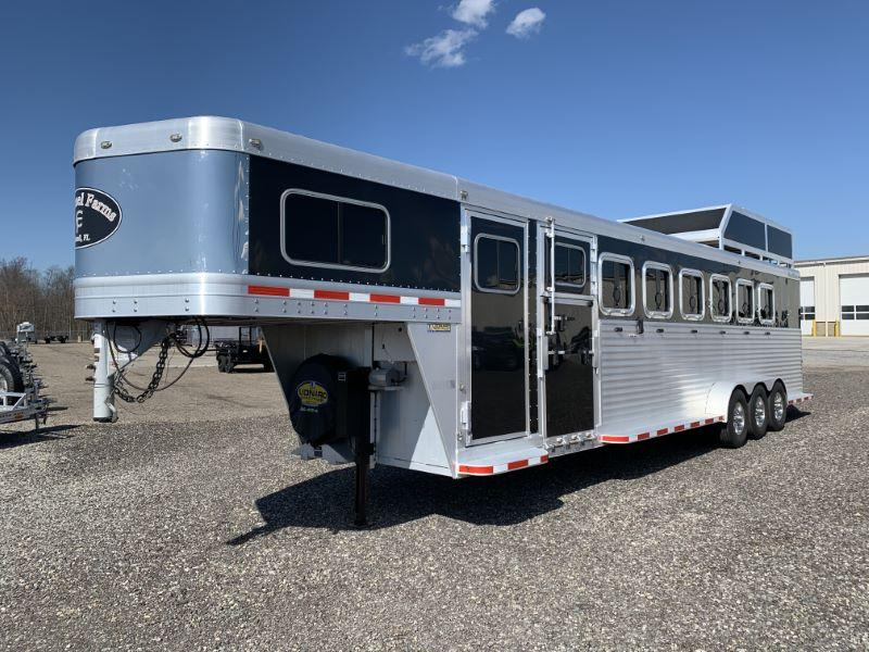 2012 7 HORSE BLUE RIBBON GOOSENECK HORSE TRAILER